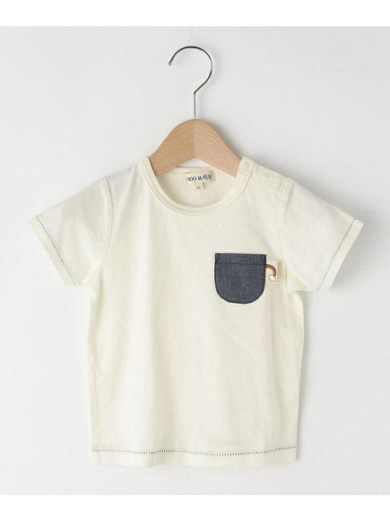 SHOO・LA・RUE/Kids 配色ステッチポケットTシャツ シューラルー カットソー
