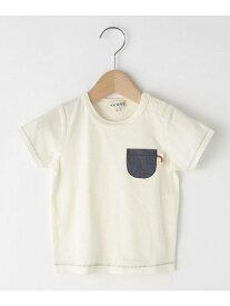 【SALE/20%OFF】SHOO・LA・RUE/Kids 【80-130cm】配色ステッチポケットTシャツ シューラルー カットソー【RBA_S】【RBA_E】