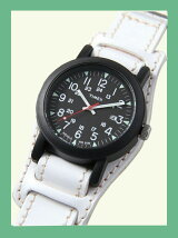 【国内正規品】crampオリジナルレザーベルト台座付き時計 オーバーサイズキャンパー ブラック