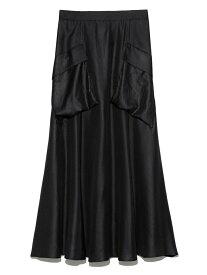 Mila Owen ポケットデザインフレアスカート ミラオーウェン スカート ロングスカート ブラック ピンク【送料無料】