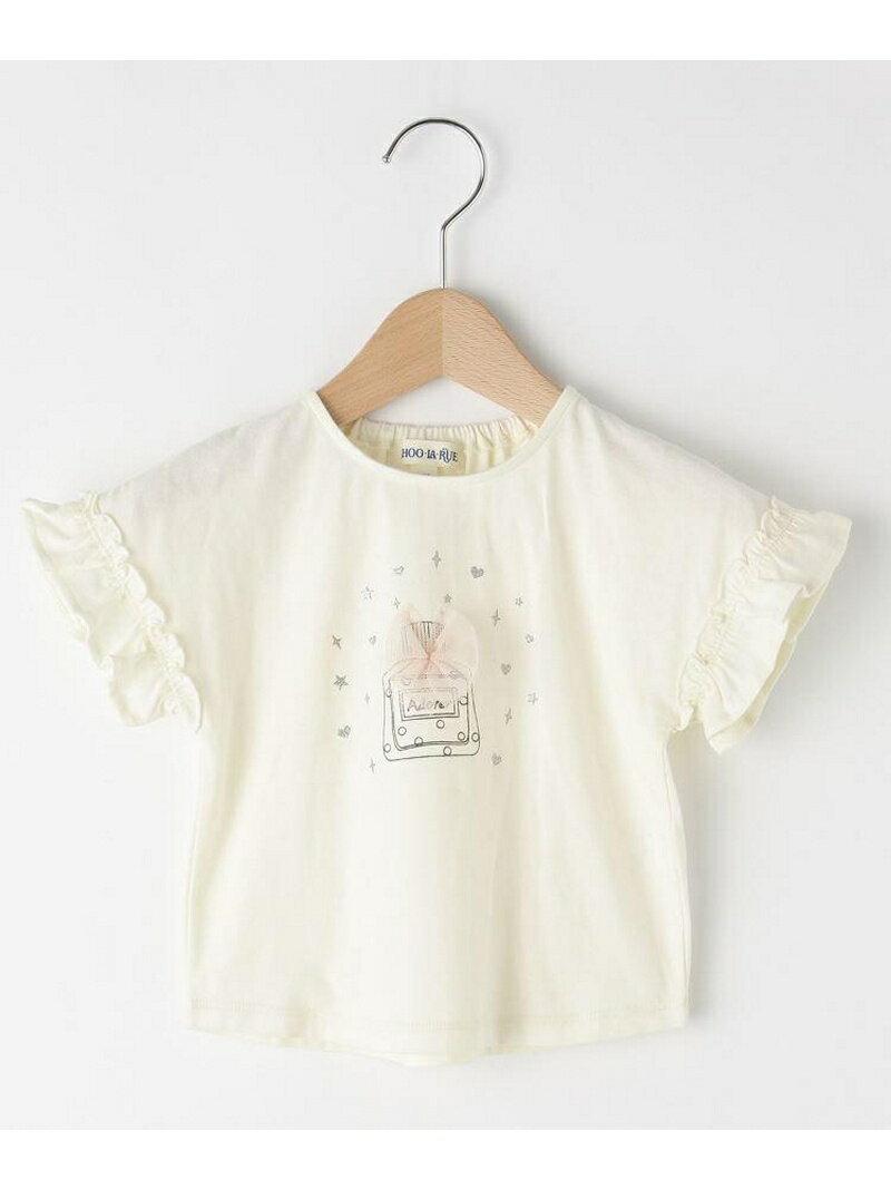 【SALE/9%OFF】SHOO・LA・RUE/Kids 袖フリル香水チュールTシャツ シューラルー カットソー【RBA_S】【RBA_E】