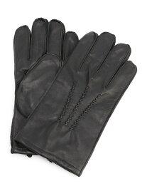 【SALE/50%OFF】BENETTON (UNITED COLORS OF BENETTON) (M)リアルレザーグローブ・手袋 ベネトン(ユナイテッド カラーズ オブ ベネトン) ファッショングッズ 手袋 ブラック ブラウン【送料無料】