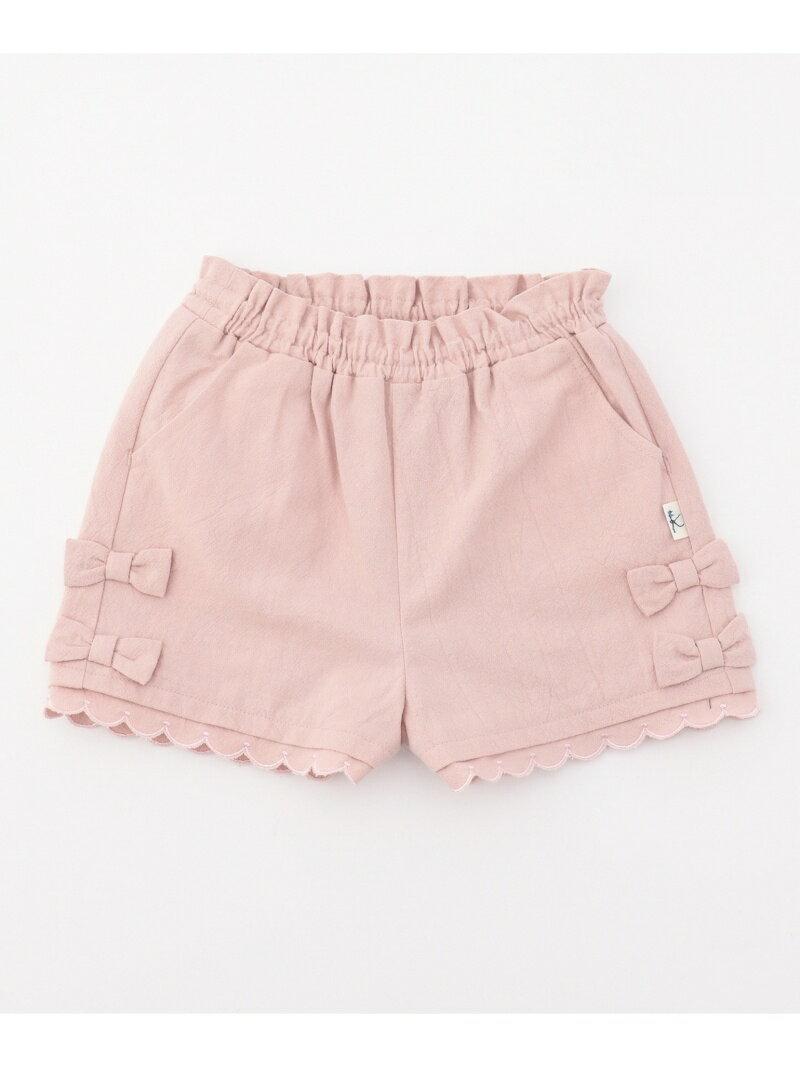 【90~100cm】リボン ショートパンツ クミキョク パンツ/ジーンズ【送料無料】