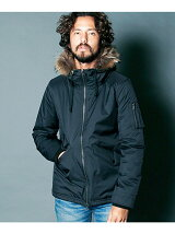 STRETCH NYLON THINSULATE MILITARY HOOD JKT