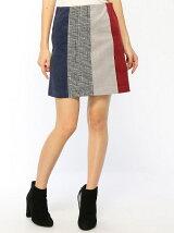 配色台形スカート