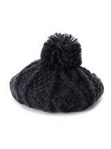 ポンポンニットベレー帽