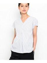 innowave バックリボンブロードシャツ