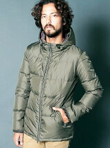 NYLON WATER REPELLENT HOOD DOWN PARKA