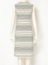 STRETCH RANDOM STRIPE Sleeveless Dress
