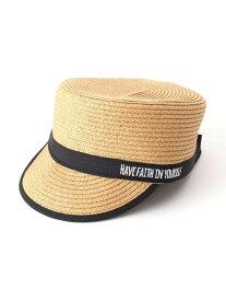 【SALE/65%OFF】SHOO・LA・RUE ブレードワークキャップ シューラルー 帽子/ヘア小物 キャップ ベージュ ネイビー