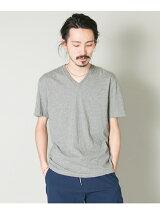 コットンVネックTシャツ