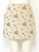 【sw】 ローズモールジャカード台形スカート