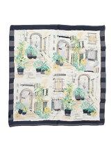 ガーデン柄スカーフ