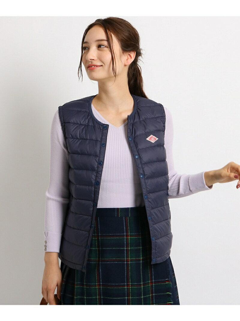 Dessin(Ladies) DANTON ノーカラーベスト デッサン コート/ジャケット【送料無料】