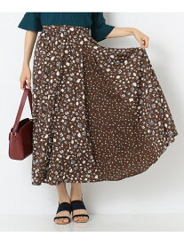 【SALE/50%OFF】any SiS 【洗える】MIXpatternプリントスカート エニィスィス スカート スカートその他 ブラウン ブラック【送料無料】