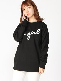 X-girl 3D CURSIVE LOGO LST エックスガール カットソー Tシャツ ブラック ブルー ホワイト【送料無料】