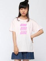 【BROWNY】(L)GIRLロゴプリントT2