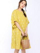 レモン刺繍ワンピース