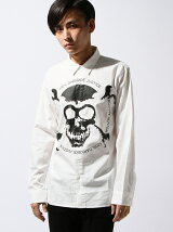 B×H Skull Print Shirts