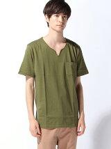 (M)ZIP FIVE キーネック半袖Tシャツ
