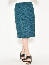 リーフ刺繍スカート