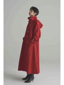 ROSE BUD スタンドカラーフードコート ローズバッド コート/ジャケット コート/ジャケットその他 レッド ブラック【送料無料】