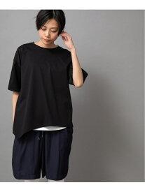 【SALE/35%OFF】Munich ドライタッチジャージアシンメトリーTシャツ ミューニック カットソー Tシャツ ブラック カーキ ホワイト【送料無料】