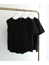 【SALE/10%OFF】ROPE' 【3枚セット】パックTシャツ ロペ カットソー カットソーその他 ブラック ホワイト ベージュ【送料無料】