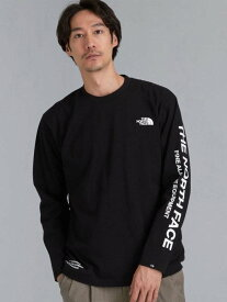 UNITED ARROWS green label relaxing [ ザ ノースフェイス ] THE NORTH FACE SQRE ロゴ 長袖 カットソー Tシャツ ユナイテッドアローズ グリーンレーベルリラクシング カットソー Tシャツ ブラック ホワイト パープル【送料無料】