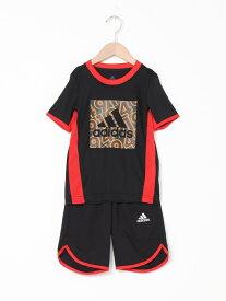 【SALE/30%OFF】adidas Sports Performance AEROREADY サマー 上下セットアップ [AEROREADY Summer Set] アディダス (キッズ/子供用) アディダス カットソー キッズカットソー ブラック ブルー