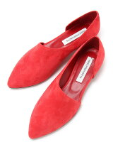 OPEN SUEDE SHOES Flat