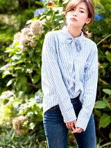 ボーイフレンドシャツ-QUIET HARBOR Stripe