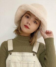 【SALE/50%OFF】WEGO WEGO/(L)ファーバケットハット ウィゴー 帽子/ヘア小物 ハット ホワイト ブラック ブラウン ベージュ