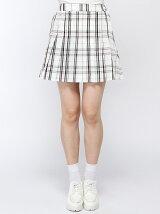 【JUNIOR SWEET】(L)チェックプリーツミニスカート