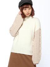 RETRO GIRL/袖ケーブル H/N ニット