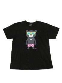 BEAMS T 【SPECIAL PRICE】BEAMS T / Sunglass Bear Tee ビームスT カットソー Uネックカットソー ブラック ホワイト