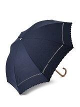 EN11 ドット刺繍柄 長傘/日傘