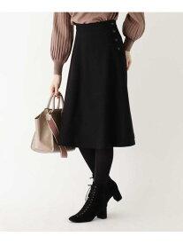 index 【WEB限定サイズ】ウールブレンドボタンフレアスカート インデックス スカート スカートその他 ブラック ベージュ ネイビー【送料無料】