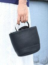 [Cl]メタルハンドルバケットバッグ