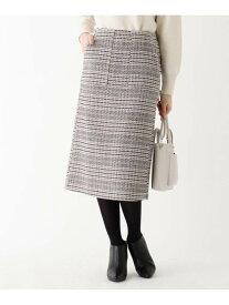 index 【WEB限定】ビッグチェックタイトスカート インデックス スカート スカートその他 ベージュ ネイビー【送料無料】