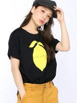 「LET'S LEMON」プリントTシャツ