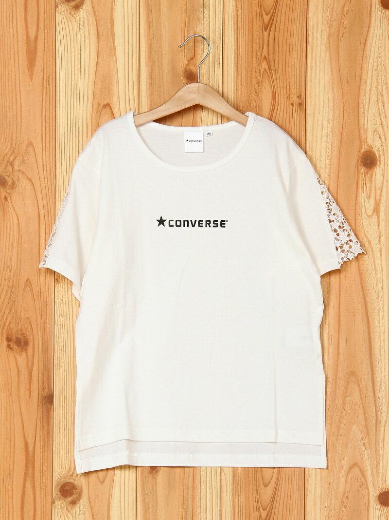 ★CONVERSE 【★CONVERSE】袖レース半袖Tシャツ ブランシェス カットソー