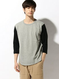MYE-DO' DESIGN オーセンティック スーパーヘヴィーウェイト 7.1オンス ベースボール 3/4スリーブ Tシャツ マイドゥーデザイン カットソー Tシャツ グレー ホワイト
