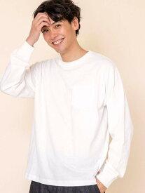【SALE/28%OFF】coen USAコットンロングスリーブTシャツ(一部WEB限定カラー)# コーエン カットソー Tシャツ ホワイト ブラック グレー ベージュ ピンク ブルー