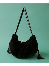 VELVET TASSELE SHOULDER BAG