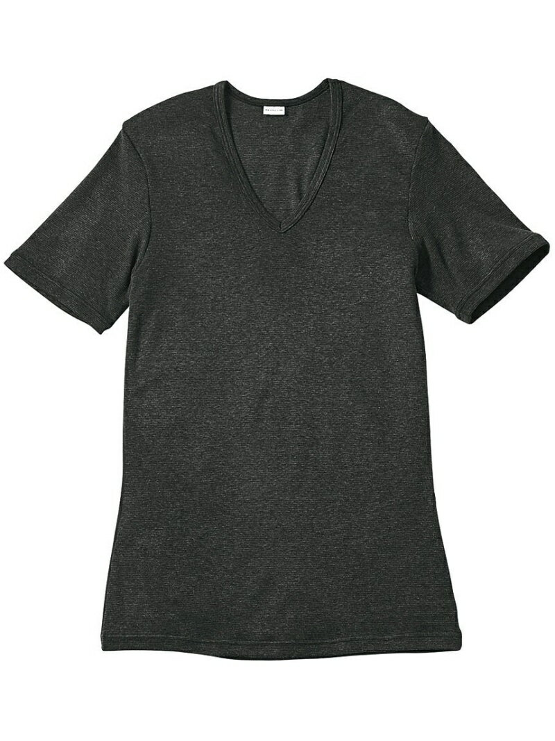 BROS BROS 半袖シャツ プレミアムサーモ 深V首 ブロス インナー/ナイトウェア
