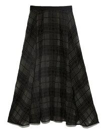 【SALE/30%OFF】Lily Brown チェックレーススカート リリーブラウン スカート ロングスカート ブラック ホワイト【送料無料】
