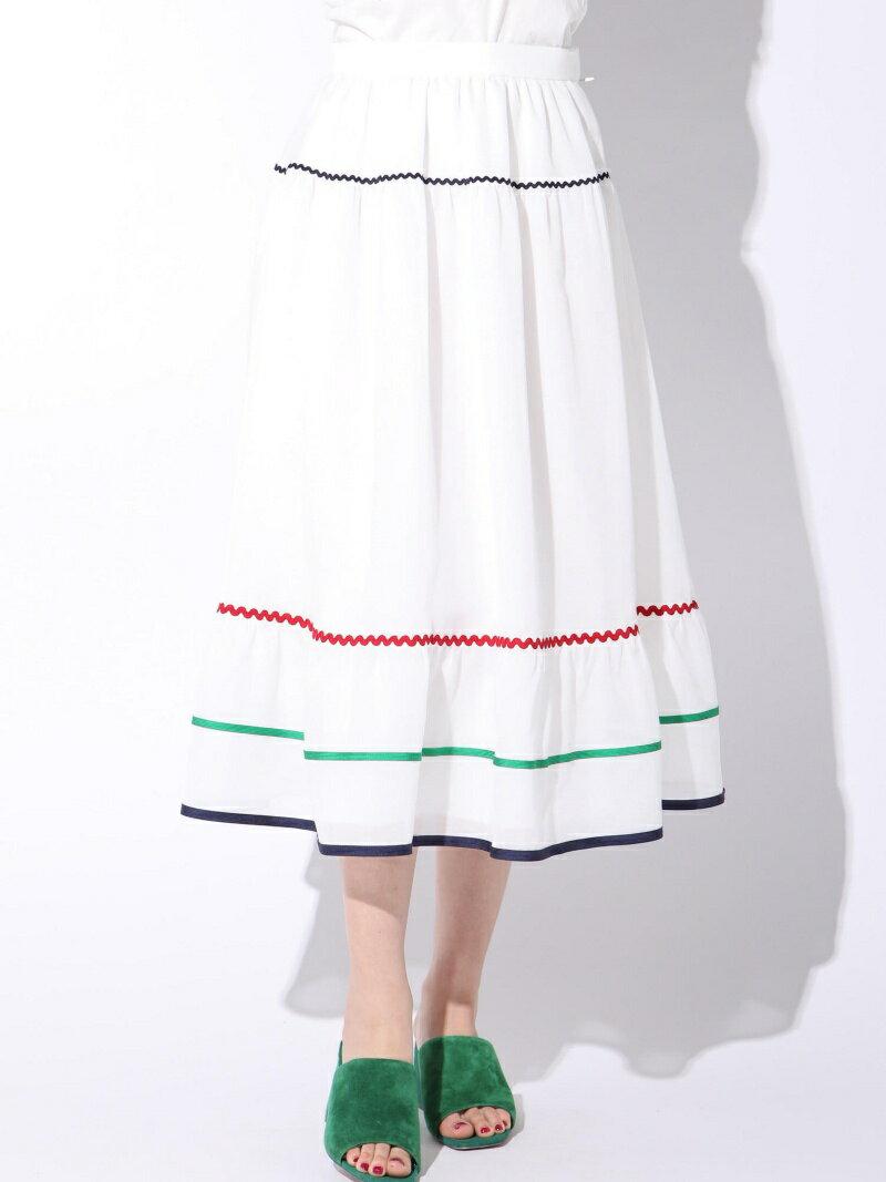 【SALE/70%OFF】マルチカラー配色スカート クイーンズコート スカート【RBA_S】【RBA_E】【送料無料】
