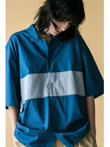 <monkey time> BROAD COLOR BLOCK SHIRT/シャツ