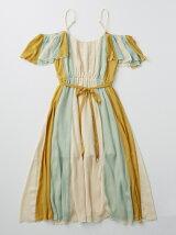 シフォンバイカラードレス